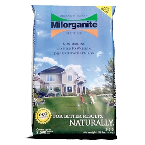 36lb Milorganite Organic Nitrogen Fertilizer with 4% Iron
