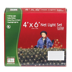 Holiday Wonderland 150 count Clear Bulbs Net-Style Light Set