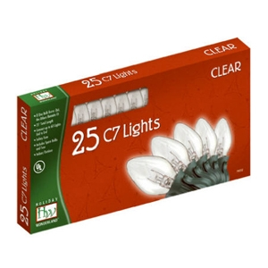 Holiday Wonderland 25ct Clear Lights