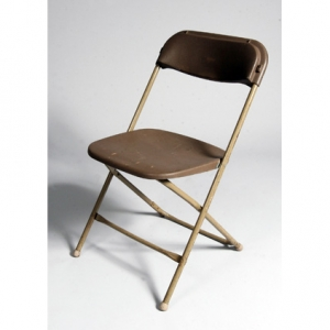 CHAIR,  BROWN FOLDING