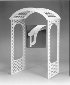 Arch, White Lattice