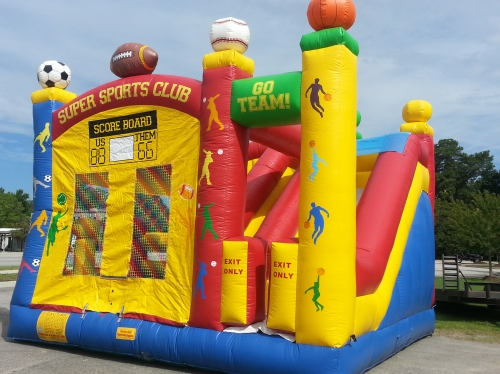 Inflatable Slide, Super Sports Club