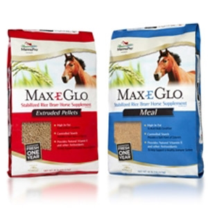 Max-E-Glo™ Stabilized Rice Bran Performance Horse Supplement