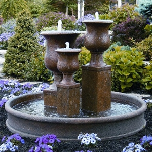 Vail Goblet Cement Urn Fountain