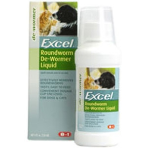Excel Roundworm De-Wormer Liquid for Dogs & Cats