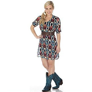 Wrangler® Western Fashion Printed Tunic Dress