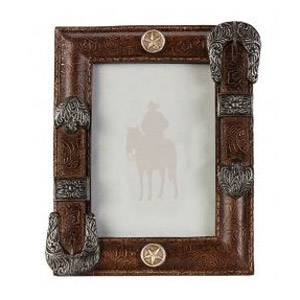 Antiqued Western Belt 4x6 Photo Frame
