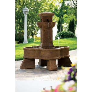 Sienna Place Cement Fountain