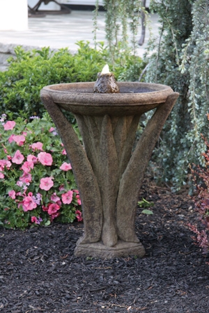 27'' Meadows Glow Cement Fountain