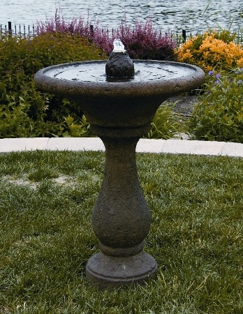 33'' Chelsea Glow Round Cement Fountain