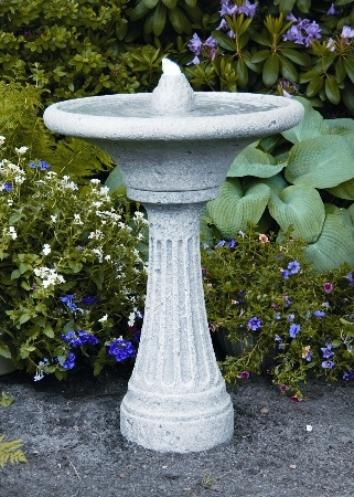 33'' Chelsea Glow Fluted Cement Fountain