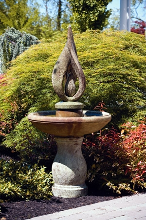 Garden Glow Cement Fountain