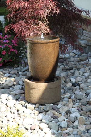 Tuscan Urn Cement Fountainette