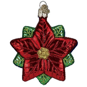 Old World Christmas Poinsettia Star