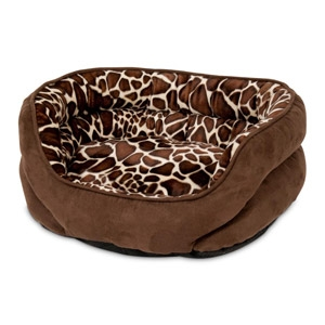 Aspen Pet Oval Giraffe Print Pet Bed