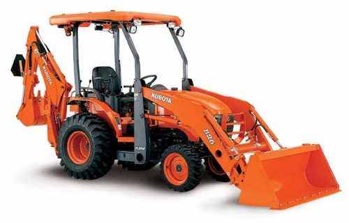 Kubota Tractor With Loader and Backhoe