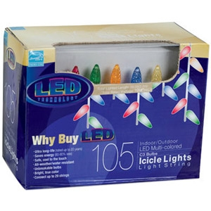 105 Ct. C3 Icicle Light Set - Multi