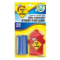 Bramton Company Bags On Board Fire Hydrant Dispenser w/ 30 Bag Refill