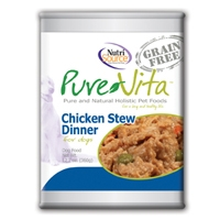 Pure Vita Grain Free Chicken Stew Dog Food, CANNED, 12/12.7oz.