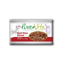 Pure Vita Grain Free Beef Stew Canned Cat Food