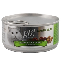 Petcurean Go! Natural Grain Free Cat Can Freshwater Trout, 24/5.5 Oz