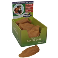"Paragon Vegetarian Veggie Ear Dental Dog Treat 7.2"" 18 ct. Display Box"