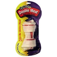 "Dingo Double Meat Bone Medium White - 5.5""-6.0"""