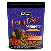 Zupreem Lory Diet Nugget 2.5 lb. Pouch