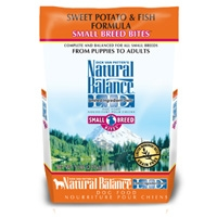 Natural Balance Sweet Potato & Fish Formula Small Breed Bites 4.5 lb.