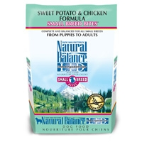 Natural Balance Sweet Potato & Chicken Formula Small Breed Bites 4.5 lb.