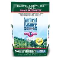 Natural Balance Lamb & Brown Rice Formula Small Breed Bites 4.5 lb.