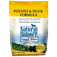 Natural Balance Limited Ingredient Diet Duck & Potato Small Bite Dry Dog Food 6/5 lb.