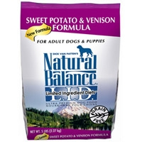 Natural Balance Limited Ingredient Diet Venison & Sweet Potato Dry Dog Food 5 lb.