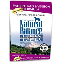 Natural Balance Limited Ingredient Diet Venison & Sweet Potato Dry Dog Food 13 lb.