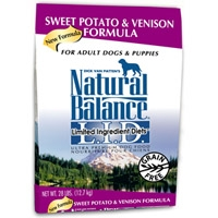 Natural Balance Limited Ingredient Diet Venison & Sweet Potato Dry Dog Food 28 lb.