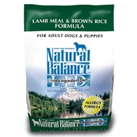 Natural Balance Limited Ingredient Diet Lamb Meal & Brown Rice Dry Dog Food 4.5 lb.