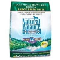 Natural Balance Limited Ingredient Diets Lamb & Brown Rice Large Breed Bites Dry Dog Food 15 lb.