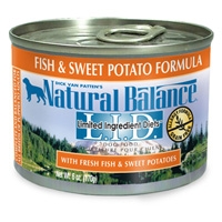 Natural Balance Limited Ingredient Diets Fish & Sweet Potato Canned Dog Food 12/6 oz.