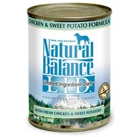Natural Balance Limited Ingredient Diets Chicken & Sweet Potato Canned Dog Food 12/13 oz.