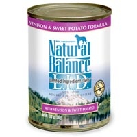 Natural Balance Limited Ingredient Diets Venison & Sweet Potato Canned Dog Food 12/13 oz.