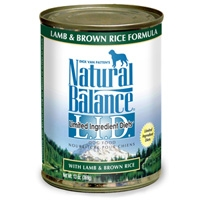 Natural Balance LID Lamb & Brown Rice Canned 12/13 oz.