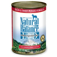 Natural Balance LID Bison & Sweet Potato Canned 12/13 oz.