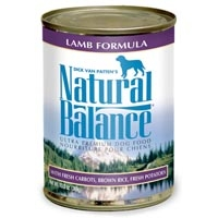 Natural Balance Lamb & Rice Can Dog Formula 12/13 oz.
