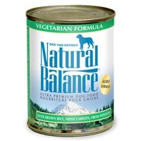 Natural Balance Vegetarian Can Dog 12/13 oz