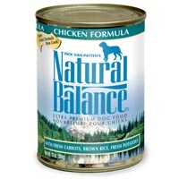 Natural Balance Chicken & Rice Can Dog Formula 13 Oz