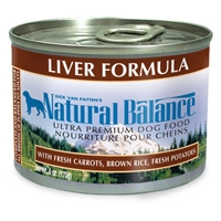 Natural Balance Liver & Rice Can Dog 12/6 oz.