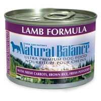 Natural Balance Lamb & Rice Can Dog 12/6 oz.