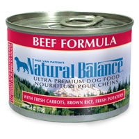 Natural Balance Beef and Rice Can Dog 12/6 oz.