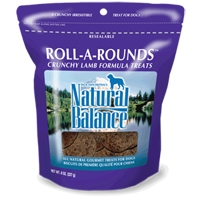 Natural Balance Roll-A-Rounds Lamb & Rice 12/8 oz.