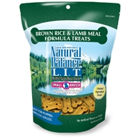 Natural Balance LIT Brown Rice & Lamb Meal Treat 12/8 oz.